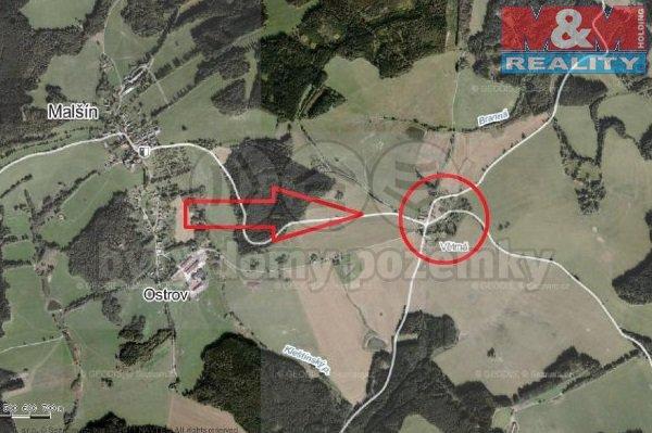 Prodej, stavební pozemek, 4089 m2, Malšín - Větrná