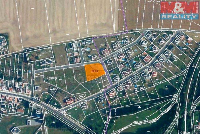 Prodej, stavební parcela, 1645 m2, Podbořany-Hlubany