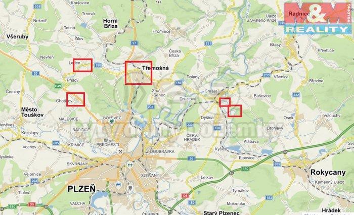 Prodej, pole, 45384 m2,Plzeň-okolí