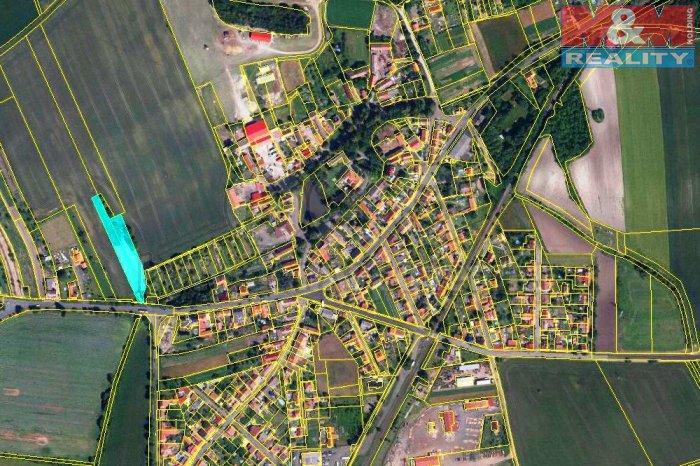 Prodej, stavební parcela, 3884 m2, Zeměchy u Loun