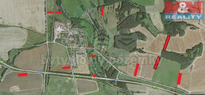 Prodej, orná půda, 29 378 m2, Třebčice