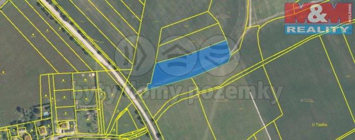 Prodej, orná půda, 4794 m2, Těně