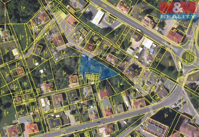 Prodej, pozemek, 995 m2, Jablonec n/N, ul.Pionýrů
