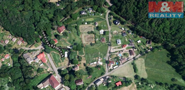 Prodej, pozemek, 1300 m2, Prunéřov