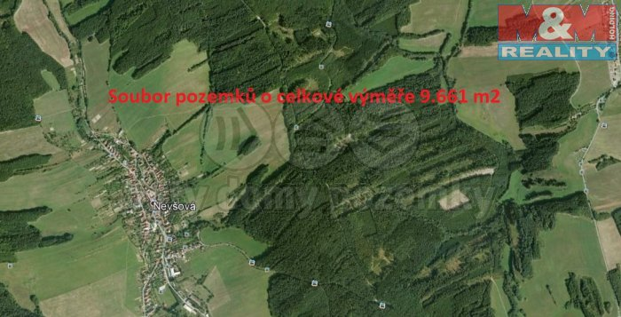 Prodej, louka, 9527 m2, Nevšová