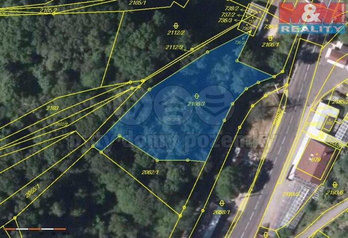 Prodej, stavební pozemek, 1590 m2, Petrovice