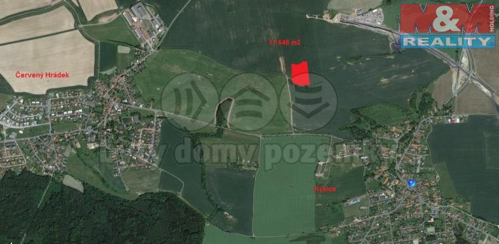 Prodej, pole, 11646 m2 Kyšice,okr. Plzeň-město