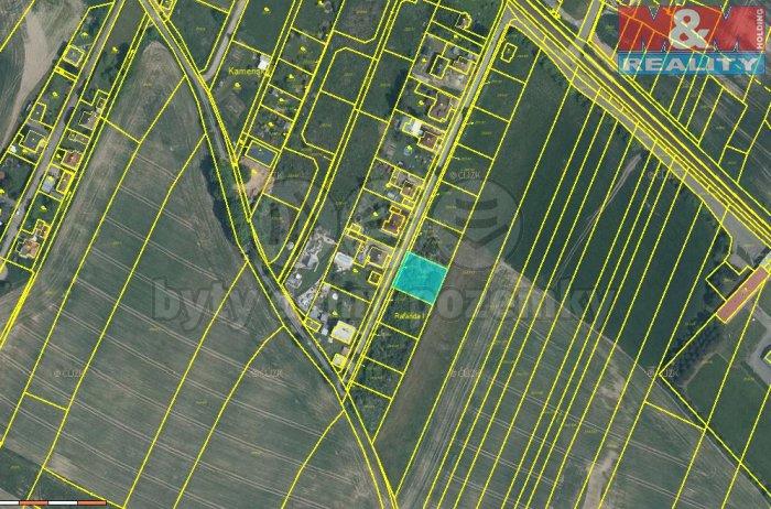 Prodej, stavební parcela, 805 m2, Kamenný Újezd - Rokycany