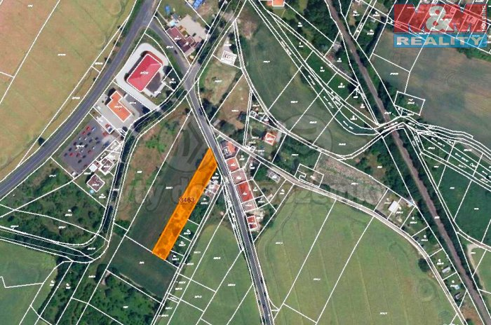 Prodej, stavební parcela, 1803 m2, Roudnice nad Labem