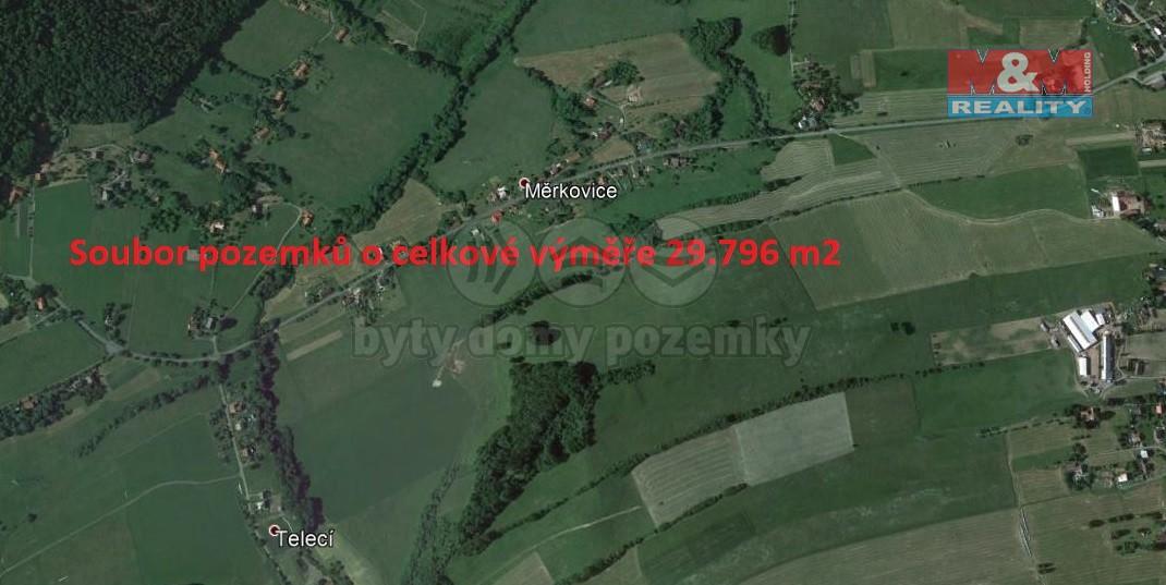 Prodej, louka, 29796 m2, Měrkovice