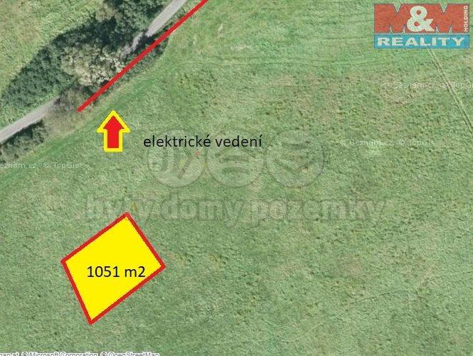 Prodej, stavební pozemek, 1051 m2, Jablůnka
