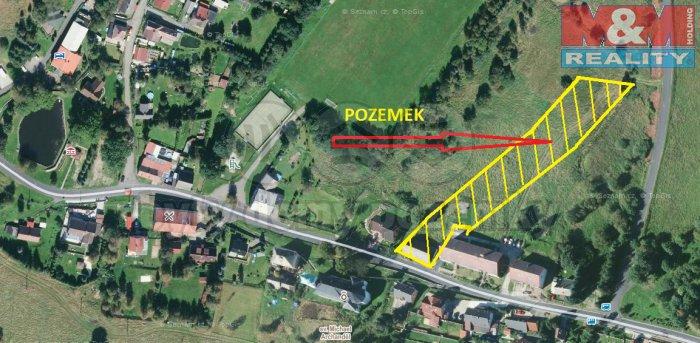 Prodej, stavební parcela, 4307 m2, Nová Ves v Horách