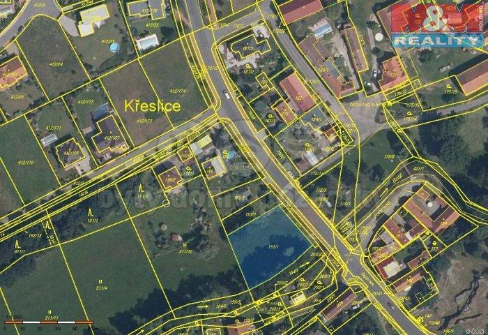 Prodej, pozemek, 1264 m2, Praha 10 - Křeslice
