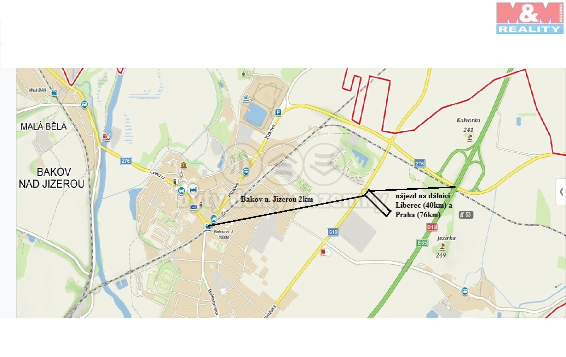 Prodej, pozemek, 6976 m2, Bakov nad Jizerou