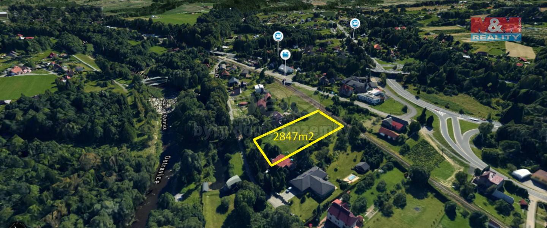 Prodej, stavební pozemek, 2847 m2, Frýdlant nad Ostravicí