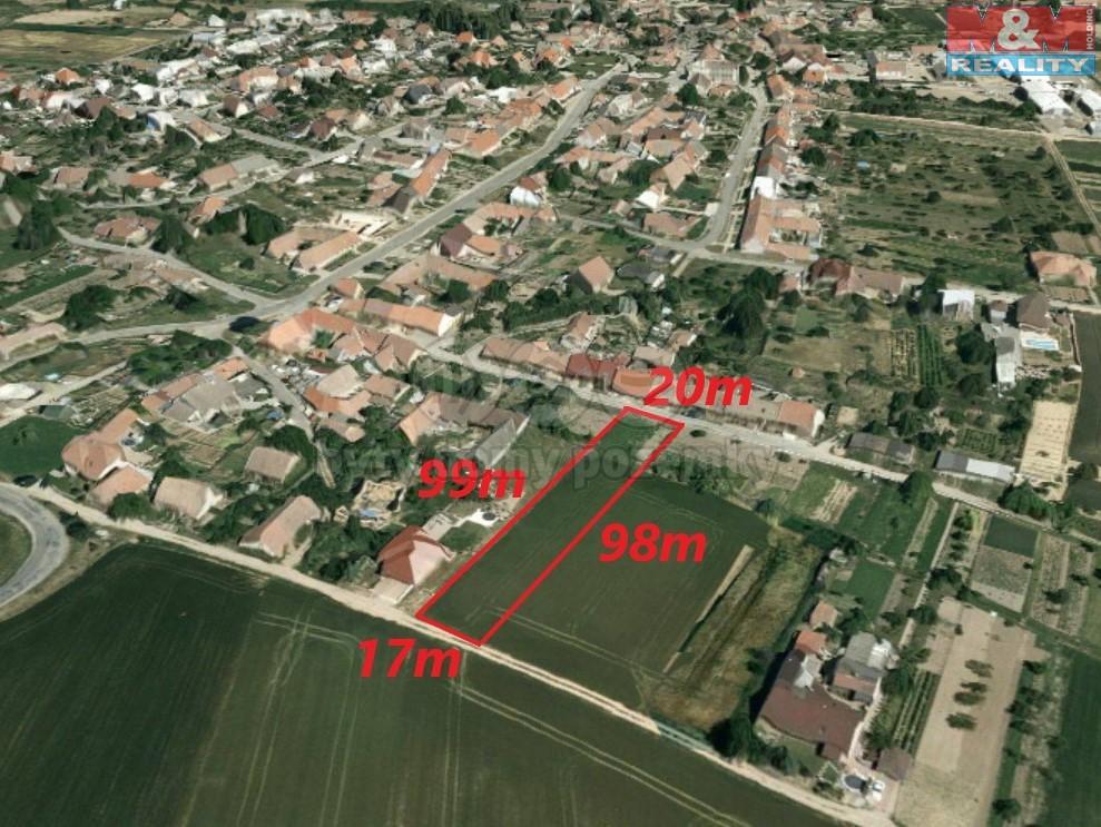 Prodej, pozemek 1775 m2, Vedrovice