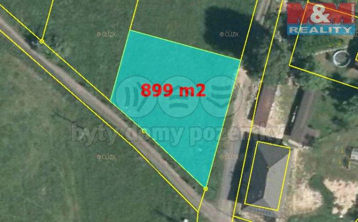 Prodej, stavební pozemek, 899 m2, Skalice u České Lípy