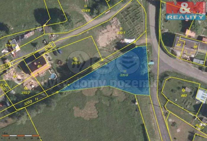 Prodej, pozemek, 980 m2, Bochov - Kozlov