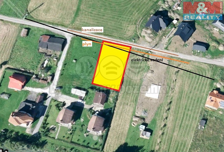 Prodej, stavební pozemek, 1025 m2, Huslenky