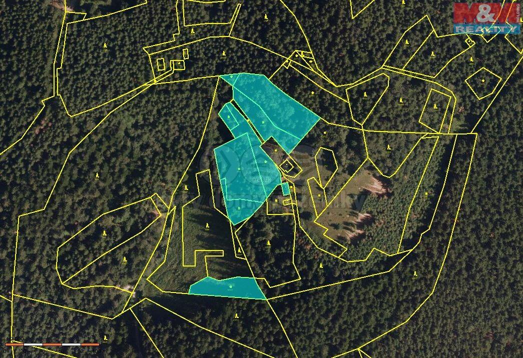 Prodej, les, 10760 m2, Hutisko - Solanec