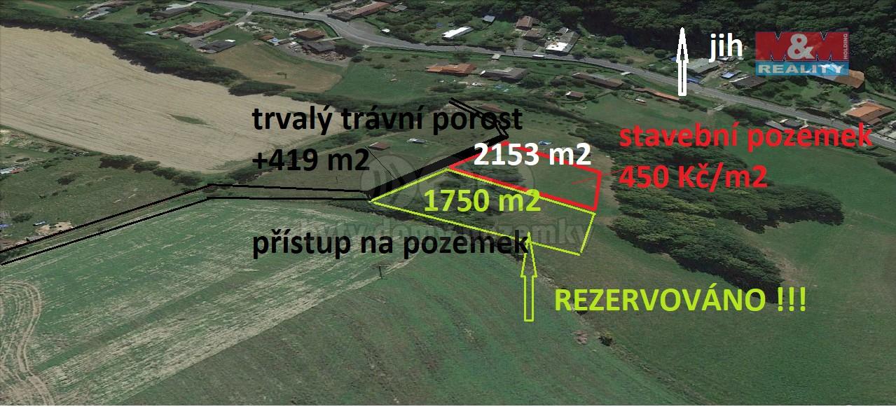 Prodej, stavební pozemek, 2572 m2, Bílovec - Stará Ves