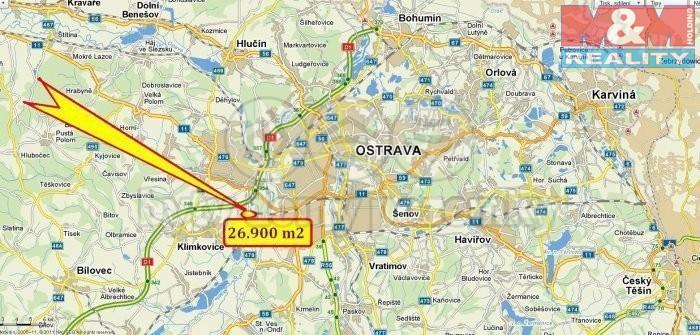 Prodej, pozemek, 26000 m2, Ostrava