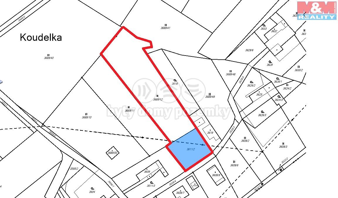 Prodej, pozemek, 4207 m2, Holice - Koudelka