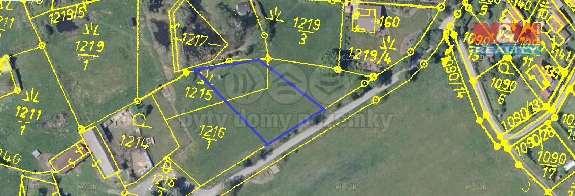 Prodej, stavební pozemek, 1200 m2, Jickovice