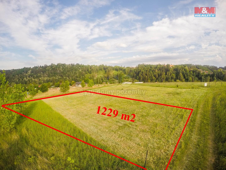 Prodej, stavební parcela, 1229 m2, Ledečko