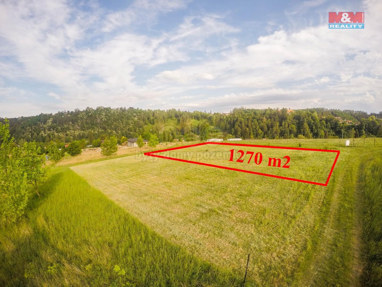 Prodej, stavební parcela, 1270 m2, Ledečko