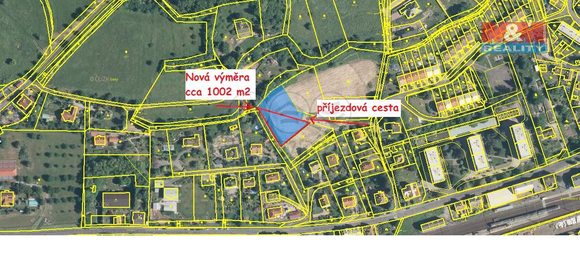 Prodej, stavební pozemek, 1002 m2, Povrly