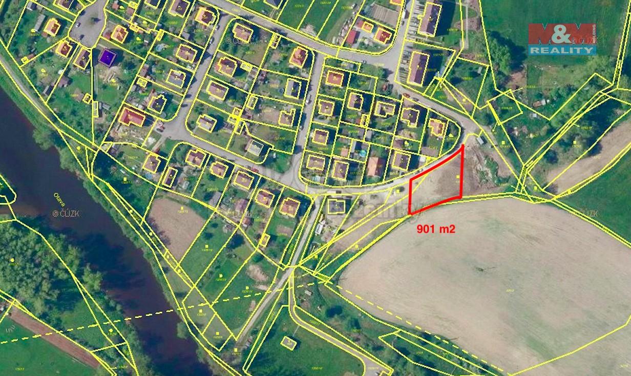 Prodej, stavební pozemek, 901 m2, Katovice