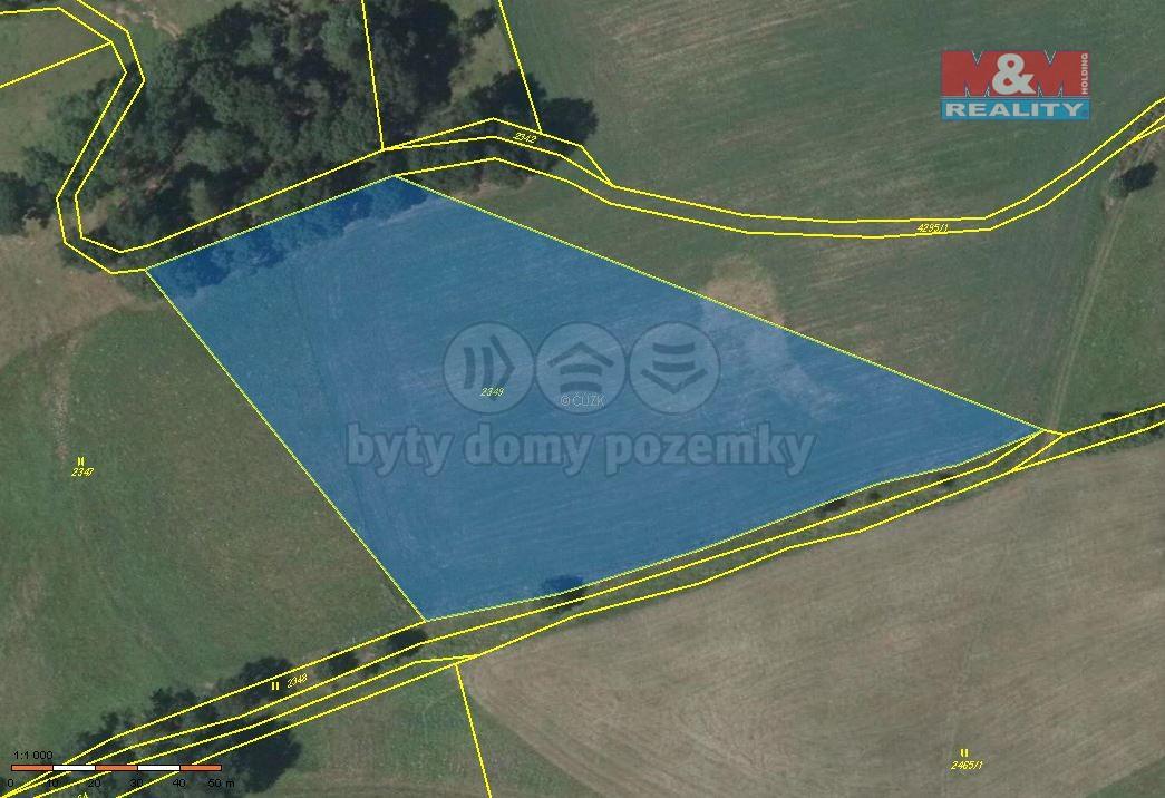 Prodej, orná půda, 11471 m2, Dolní Dobrouč