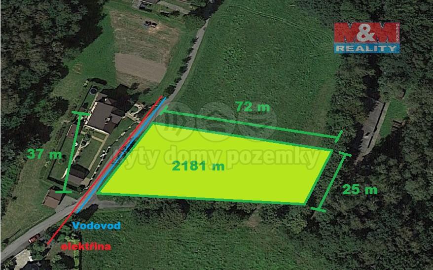 Prodej, stavební pozemek, 2181 m2, Petrovice u Karviné
