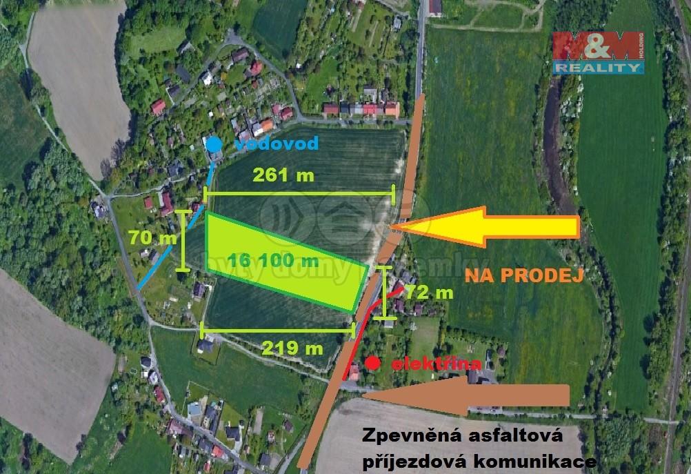 Prodej, stavební pozemek, 16100 m2, Bohumín - Pudlov