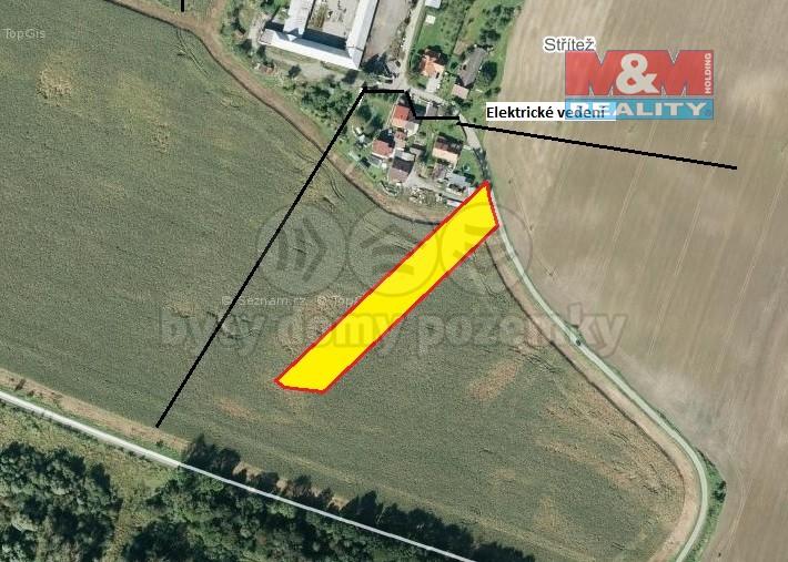 Prodej, Stavební parcela, 6846 m2, Choryně