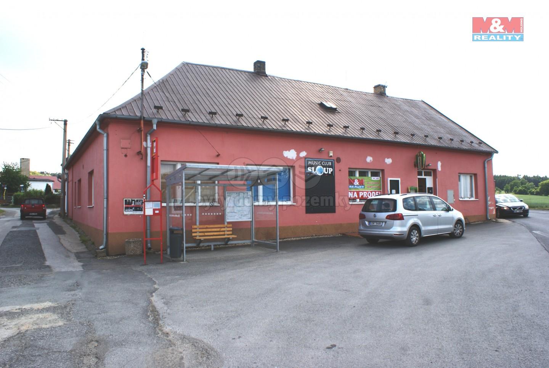 Prodej, Restaurace + music club + byt 2+1, Davle - Sloup