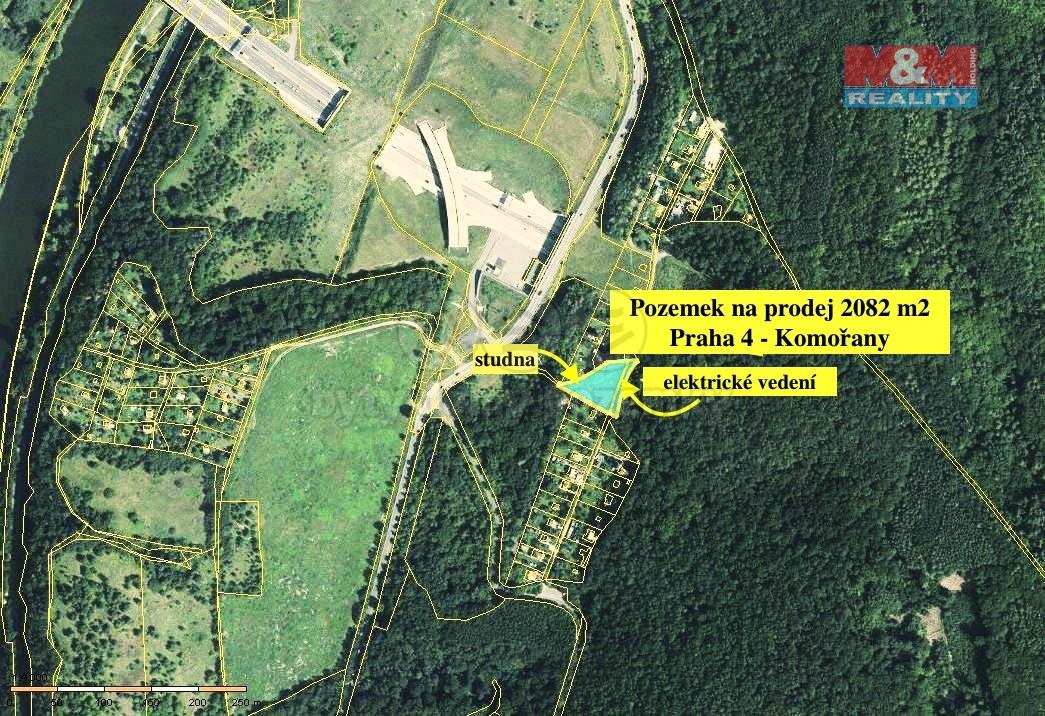 Prodej, stavební pozemek, 2082 m2, Praha 4 - Komořany