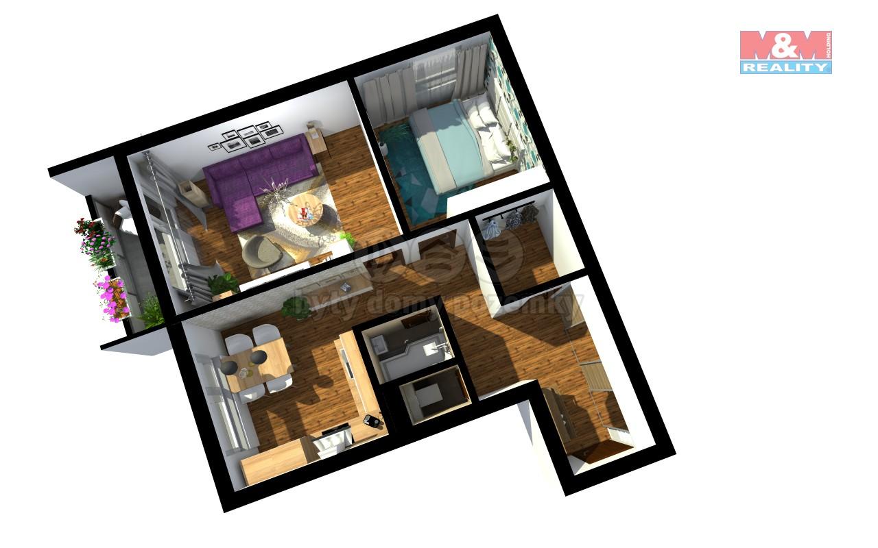 Prodej, byt 2+1, 56 m2, Znojmo, ul. Mičurinova