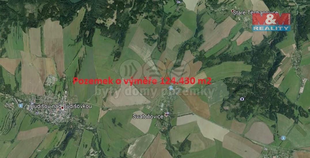 Prodej, pole, 124430 m2, Svatoňovice