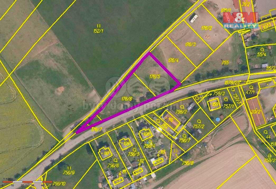 Prodej, pozemek, 2399 m2, Pernarec