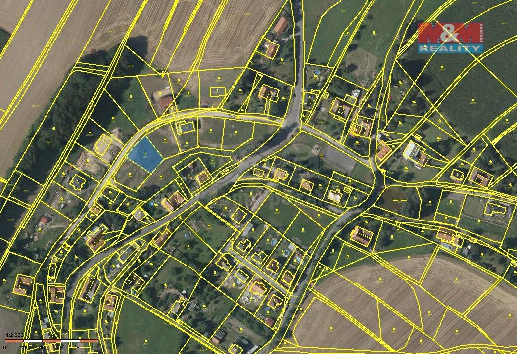 Prodej, stavební parcela,838 m2, Sloupnice