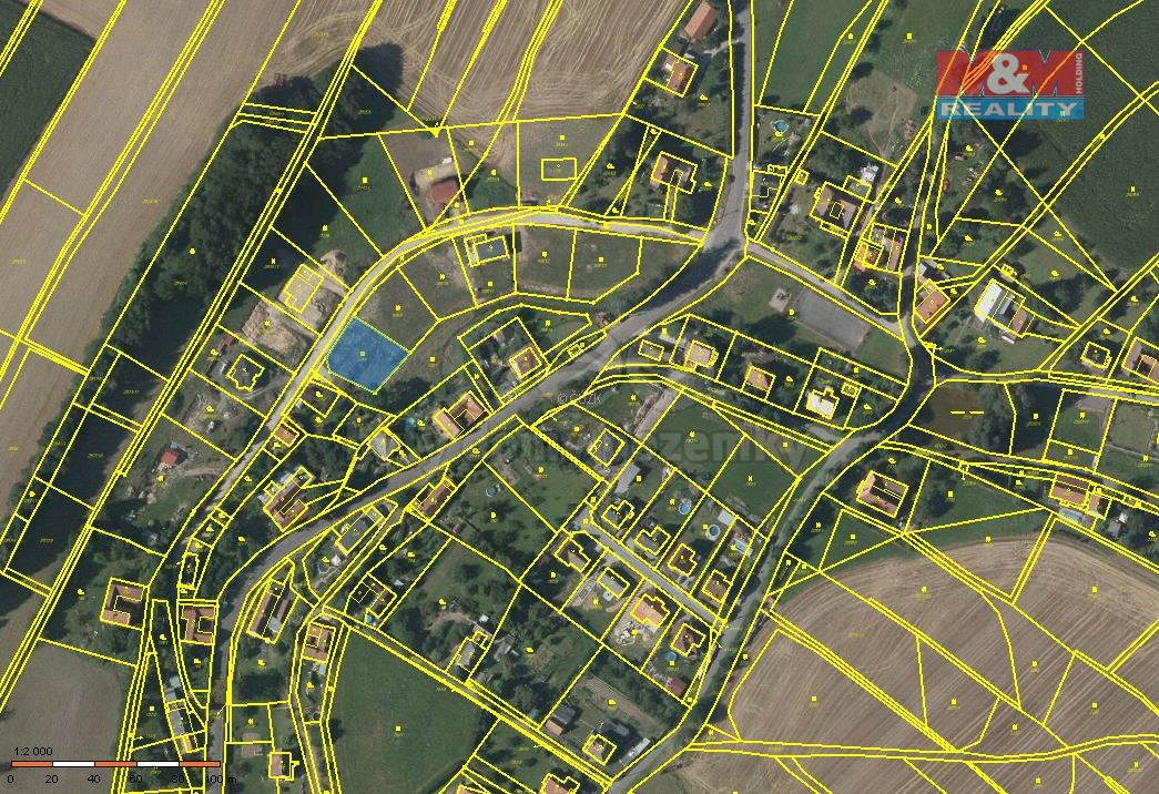 Prodej, stavební parcela,815 m2, Sloupnice