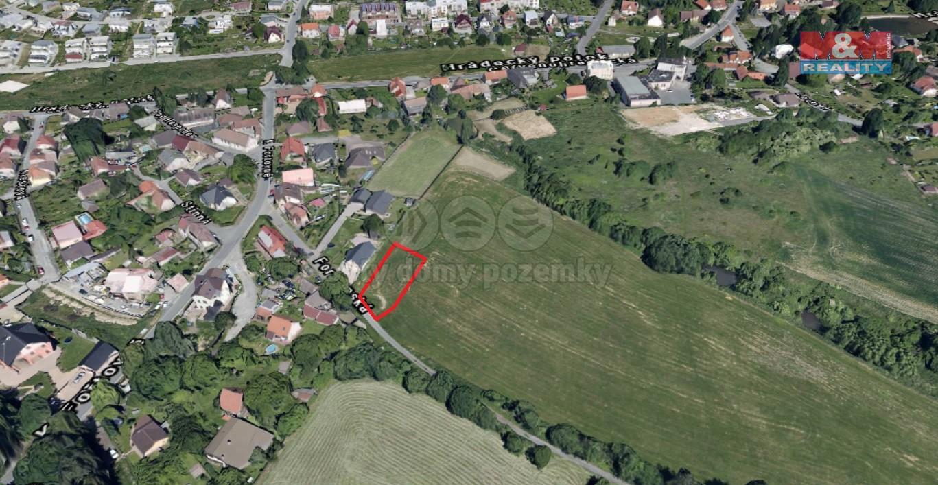 Prodej, stavební pozemek, 1055 m2, Červený hrádek - Plzeň
