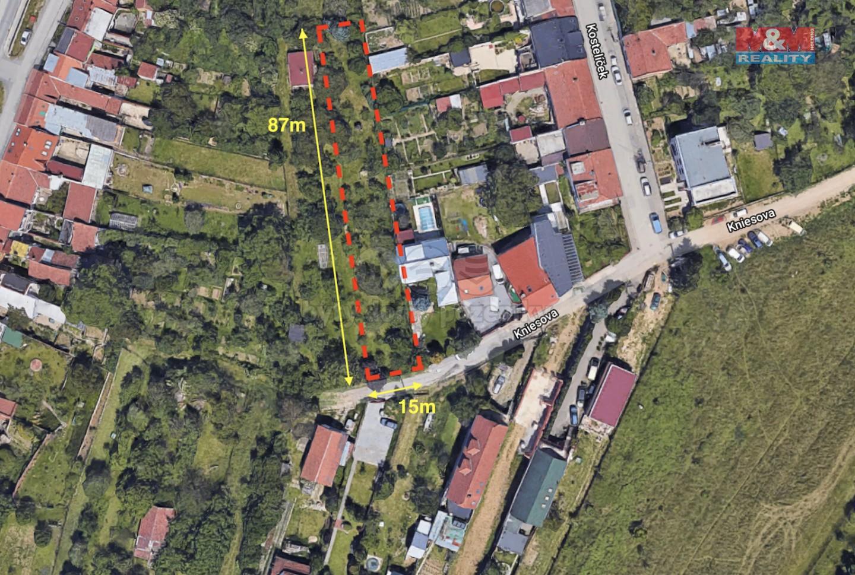 Prodej, pozemek, 1104 m2, Brno, ul. Kniesova