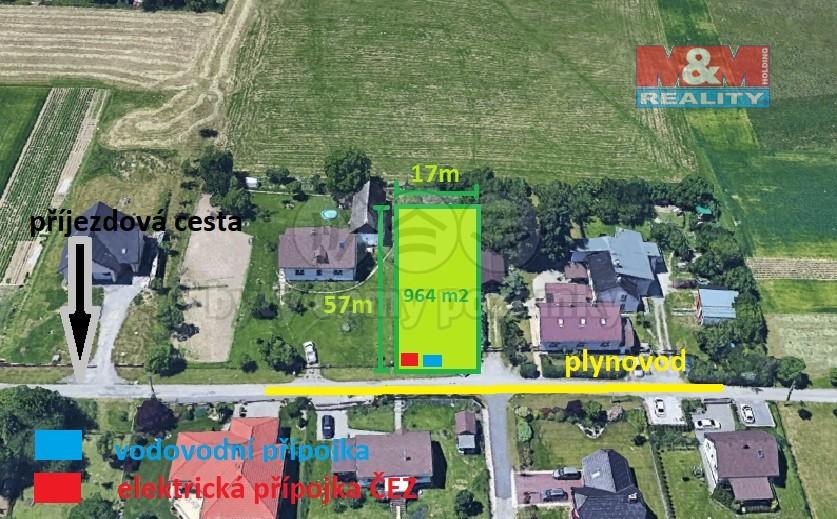Prodej, stavební pozemek, 964 m2, Václavovice
