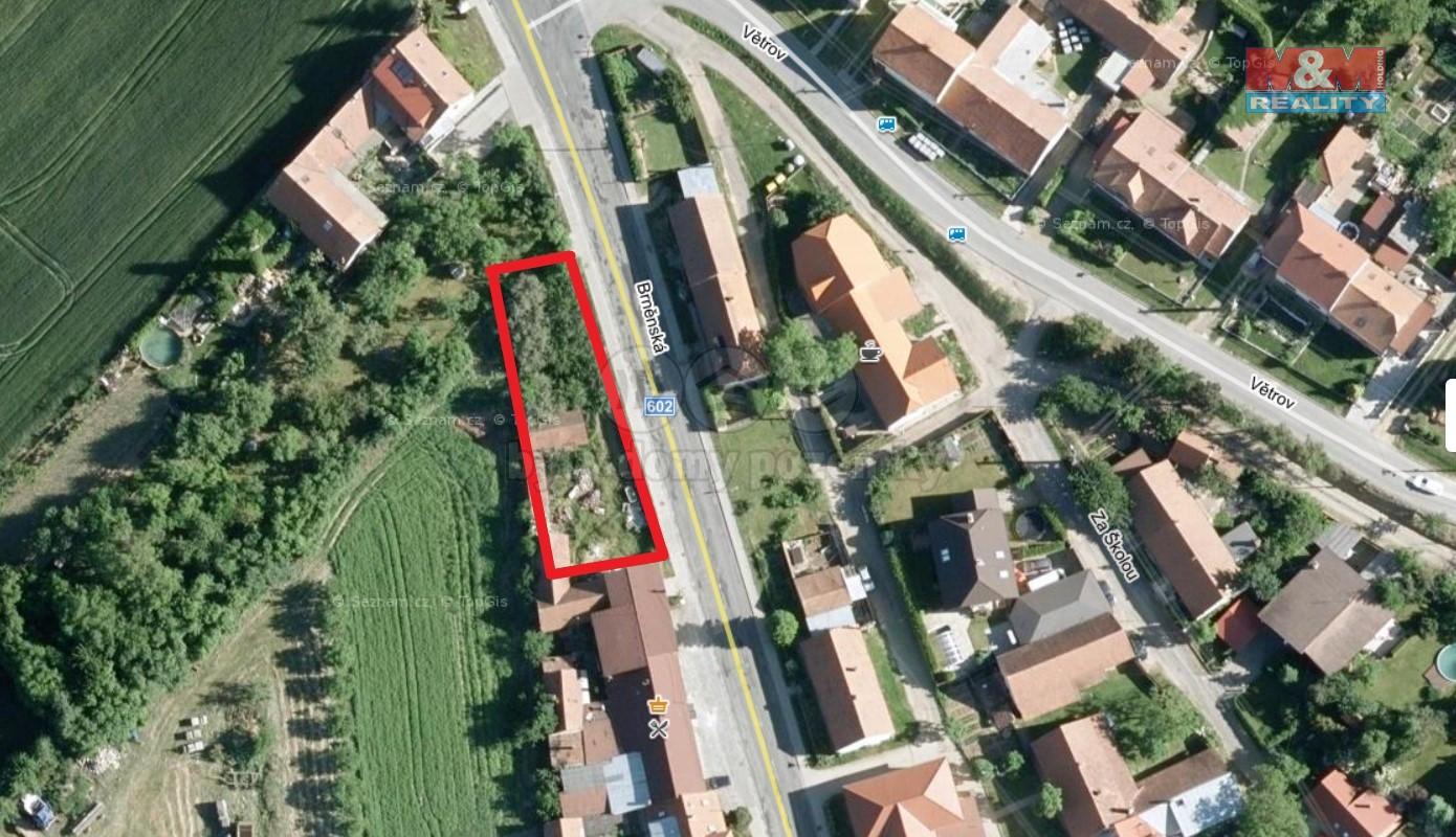 Prodej, stavební parcela, 700 m2, Domašov
