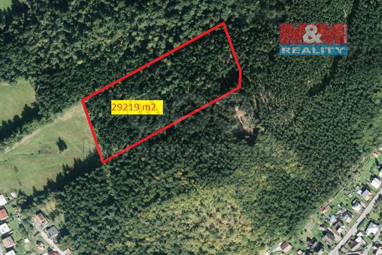 Prodej, les, 29219 m2, Dolní Bečva