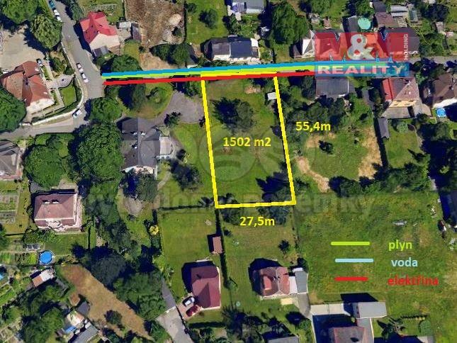Prodej, stavební pozemek,1502 m2, Ostrava - Muglinov