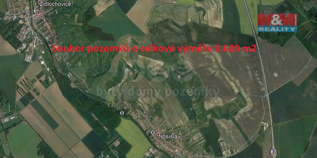 Prodej, pole, 3620 m2, Nosislav